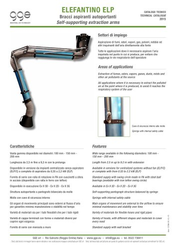 ELEFANTINO ELP – Self supporting extraction arm