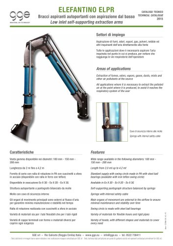 ELEFANTINO ELPR – Suction arm for fumes and vapors