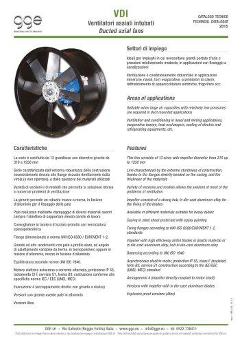VDI – Axial fans