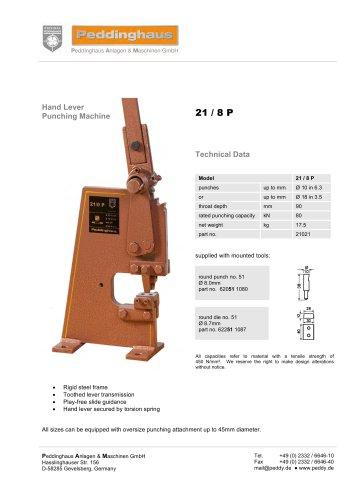 Hand leveler punching machine - 21/8P
