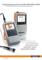Coating Thickness Measurement Instruments FMP10, FMP20, FMP30 and FMP40.