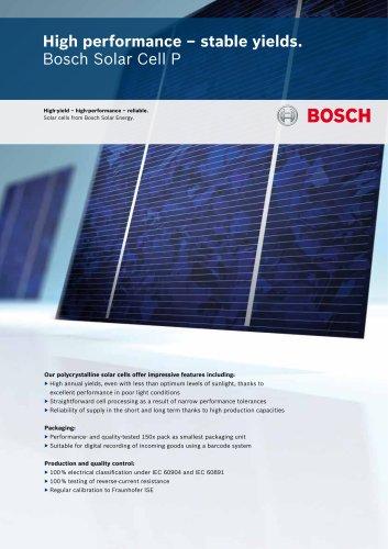 Bosch Solar Cells P
