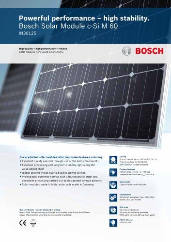 Bosch Solar Module c-Si M 60 IN30125 (225 - 245 Wp)