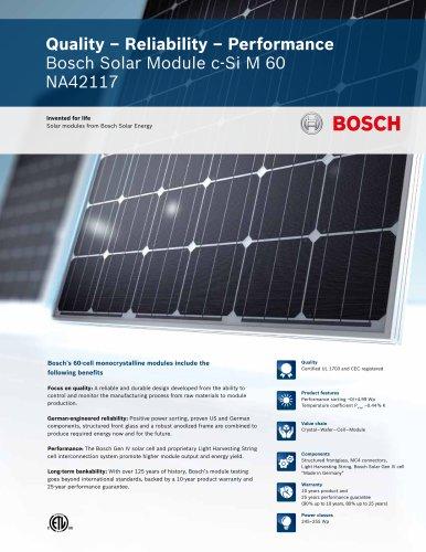 Bosch Solar Module c-Si M 60 NA42117 (245 - 255 Wp)