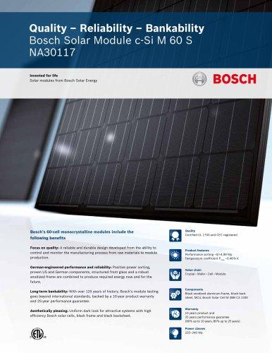 Bosch Solar Module c-Si M 60 S NA30117 (225 - 240 Wp)