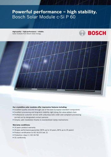 Bosch Solar Module c-Si P 60