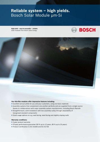 Bosch Solar Module μm-Si