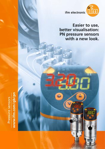 Easier to use, better visualisation: ifm PN pressure sensors with a new look.