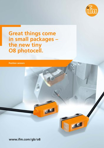 Great things come in small packages - the new tiny O8 photocell.