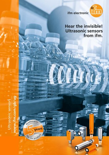 Hear the invisible! Ultrasonic sensors from ifm.