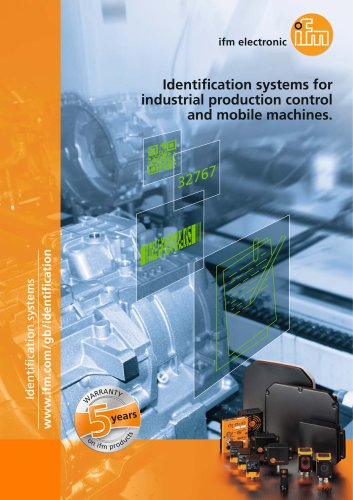 Identification systems for industrial production control and mobile machines.