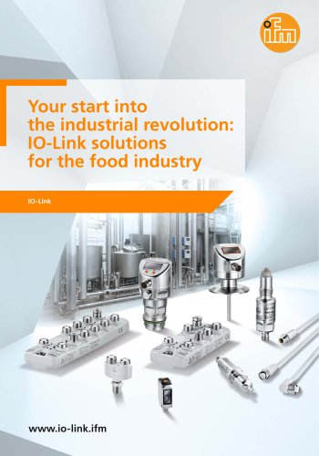 IO-Link solutions for the food industry