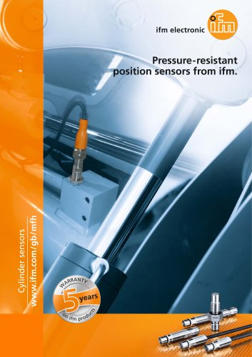 Pressure-resistant position sensors from ifm.