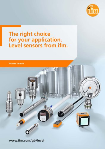 The right choice for your application. Level sensors from ifm.