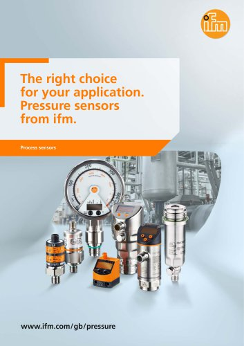 The right choice for your application. Pressure sensors from ifm.
