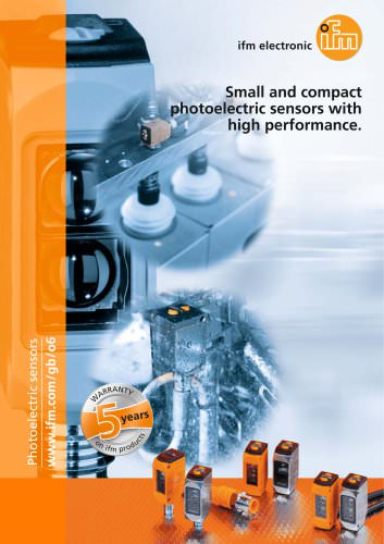 Small and compact photoelectric sensors with high performance.