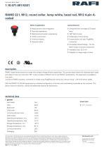 RAMO 22 I, M12, round collar, lamp white, bezel red, M12 4-pin Acoded - 1