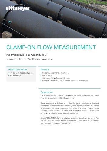 CLAMP-ON FLOW MEASUREMENT