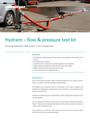 Hydrant – flow & pressure test kit
