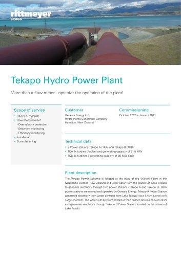 Tekapo Hydro Power Plant
