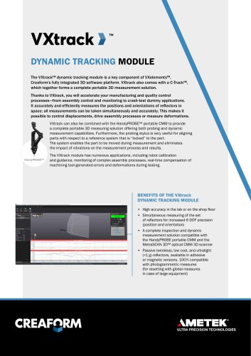 Dynamic tracking module VXtrack for inspection and dynamic measurment capabilities