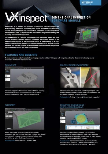 VXinspect - Dimensional Inspection Software Module