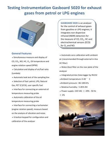 Automobile exhaust gas analyzer