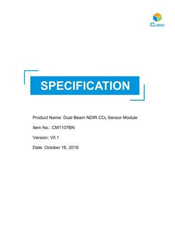 Dual Beam NDIR CO2 Sensor-CM1107BN