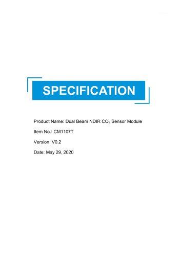 Dual Beam NDIR CO2 Sensor-CM1107T