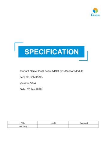 Dual Beam NDIR CO2 Sensor Module-CM1107N