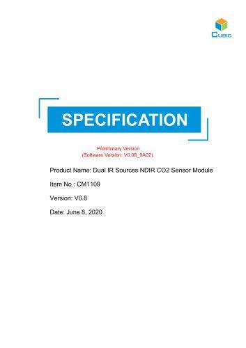 Dual IR Sources NDIR CO2 Sensor Module CM1109