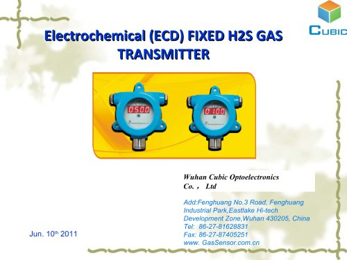 Electrochemical (ECD) FIXED H2S GAS
