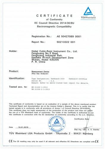 EMC Cerficate for NDIR Flue Gas Analyzer.pdf