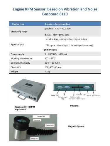 Engine RPM sensor based on vibration and noise