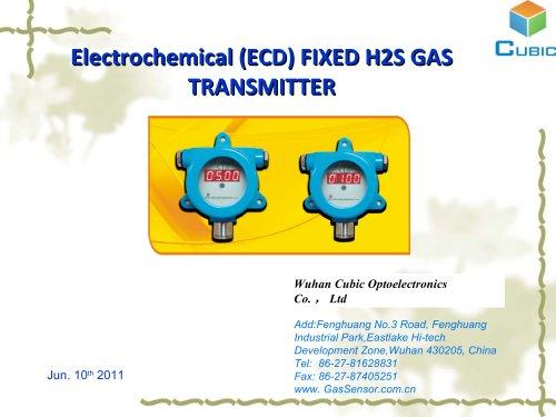 Hydrogen Sulfide Gas Transmitter CLD Series