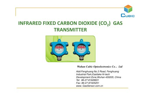 Infrared Carbon Dioxide Gas Transmitter CRH Series