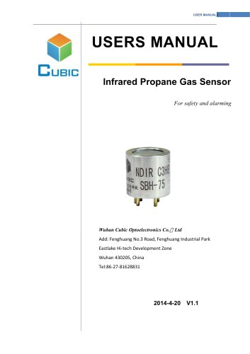 infrared propane sensor SBH series User Manual
