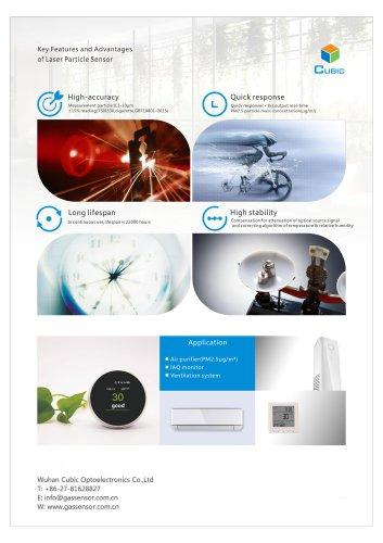Laser Particle Sensor Features