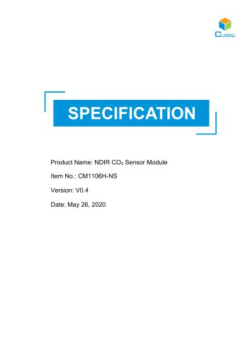 NDIR CO2 Sensor Module-CM1106H-NS