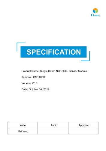 NDIR CO2 Sensor Module-CM1106S