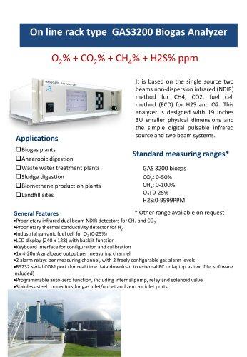 Online biogas analyzer Gasboard 3200