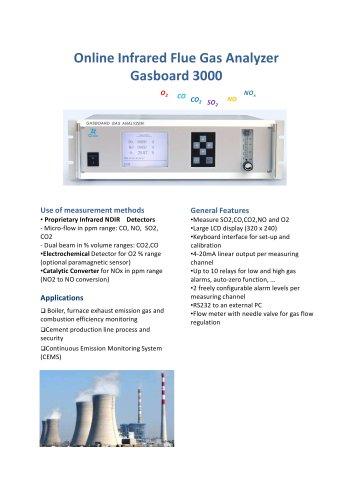 Online Infrared Flue Gas Analyzer Gasboard 3000