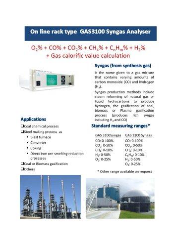 Online Infrared Syngas Analyzer Gasboard 3100