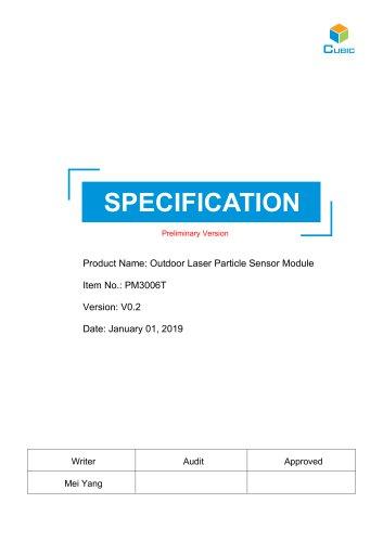 Outdoor Laser Particle Sensor Module-PM3006T