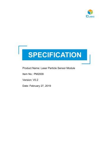 PM2009 Laser Particle Sensor Module