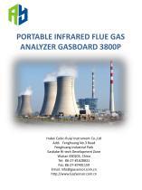 Portable Infrared flue gas analyzer Gasboard 3800P