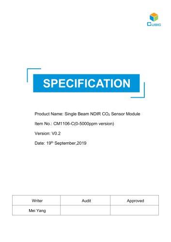 Single Beam NDIR CO2 Sensor Module-CM1106-C