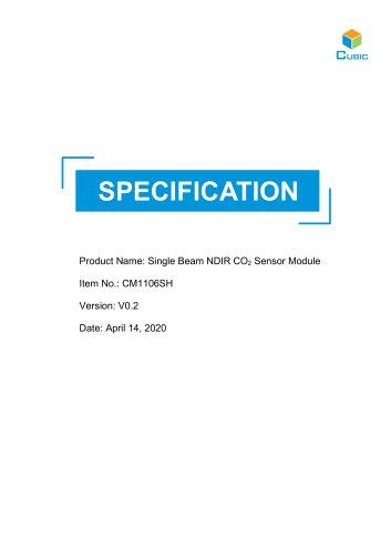 Single Beam NDIR CO2 Sensor Module-CM1106SH