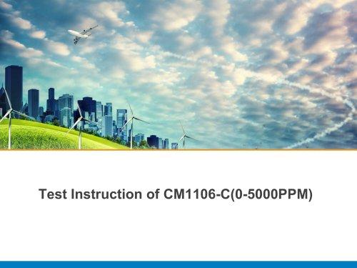 Test Instruction of CM1106-C(0-5000PPM)