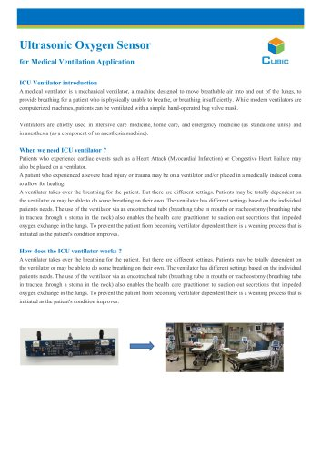 Ultrasonic Oxygen Sensor for Medical Ventilation Application